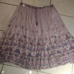 Dresses & Skirts - Summery Purple India Cotton Peasant Skirt